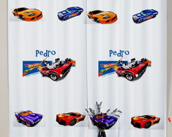 Cortina Infantil Hot Wheels Carros