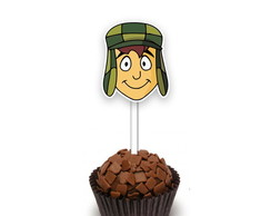 Topper Turma do Chaves p/ doces 30 unid. - Lembrancinha