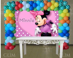 Painel Grande Minnie Mouse Rosa