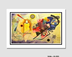 Quadro Yellow-Red-Blue Kandinsky 60x40cm N7 Decoracao Sala