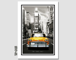 Quadro Nova York 50x35cm Mundo Taxi No. 1 Decorativo Sala