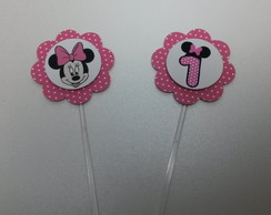 Tag / Topper Minnie Pink