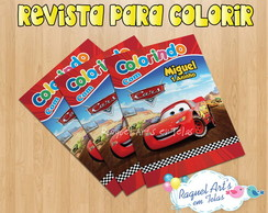 Mini Revista de colorir Carros Disney