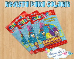 Mini Revista -Colorir Galinha Pintadinha