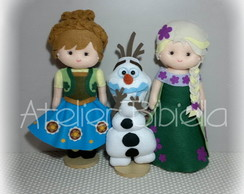 FROZEN FEVER DE FELTRO - KIT C/ 3 DE 20~25CM