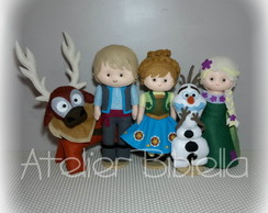 FROZEN FEVER DE FELTRO - KIT C/5 DE 20~25CM