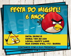 Convite Digital Angry Birds
