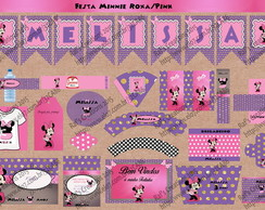 Kit Festa Minnie Roxa/ pink Digital