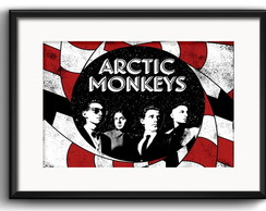 Quadro Arctic Monkeys com Paspatur