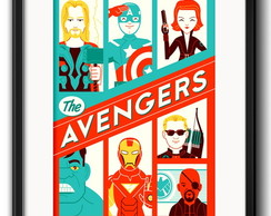 Quadro The Avengers com Paspatur