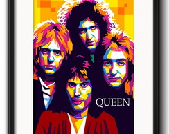 Quadro Queen Pop Art com Paspatur
