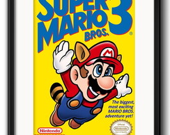 Quadro Mario Bros 3 Game com Paspatur