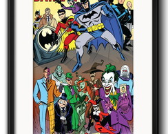 Quadro Batman Comics Retro com Paspatur