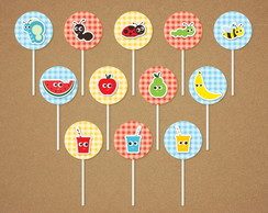 Picnic Toppers Tags Scrap