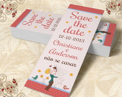 Marcador de Livro Save The Date - 00013