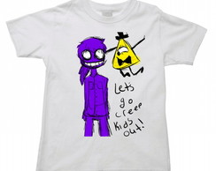 Camiseta Infantil five nights freddy 10
