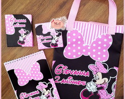 Kit Para Colorir e Sacola - Minnie Rosa