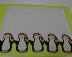 PANO DE PRATO - PINGUINS