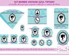 Kit Digital Festa Barbie Vintage Azul
