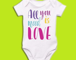 Body OU Camiseta INFANTIL Love