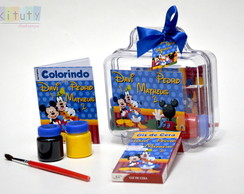 Kit Colorir + tintas e pincel na maleta