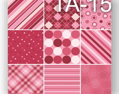 Tecido Adesivo Patchwork pink