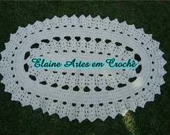 Tapete de croche Oval