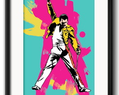 Quadro Freddie Mercury Queen com Paspatur