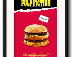 Quadro Pulp Fiction Burger com Paspatur