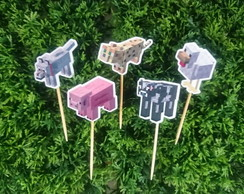 Topper Bichinhos Minecraft