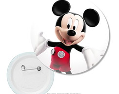 10 botons Mickey e Minnie - 2,5cm