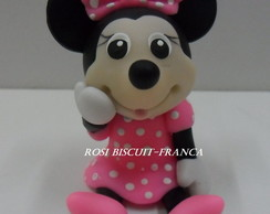 Aplique de biscuit da Minnie