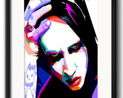 Quadro Marilyn Manson Pop Art Paspatur
