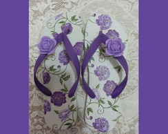 Chinelo decoupage