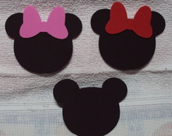 Aplique Minnie e Mickey 2