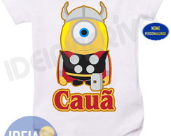 Body infantil Minion Super Herói - Thor