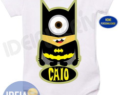 Body Infantil Minion Vingadores Batman