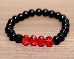 Pulseira Sobe Medida Red Black