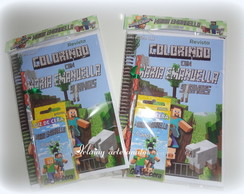 Kit colorir Minecraft 15 x 21
