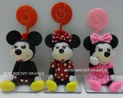 Mickey e Minnie com porta recado