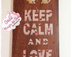 Placa Keep Calm and Love Cats