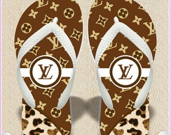 Chinelo personalizado louis vuitton