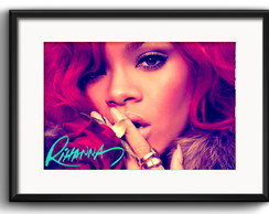 Quadro Rihanna Fashion com Paspatur