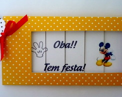 Convite persiana Mickey ou Minnie