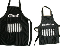 Kit Aventais Chef e Chefinha ou chefinho