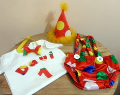 Conjunto Smash The Cake Palhaco completo