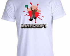 Camiseta Infantil Minecraft Notch 01