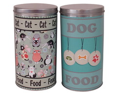 Conjunto de latas Pet Food Green