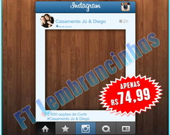 PLACA INSTAGRAM