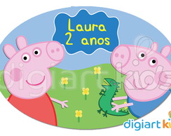 Placa - Painel - Oval - Peppa - 90cm